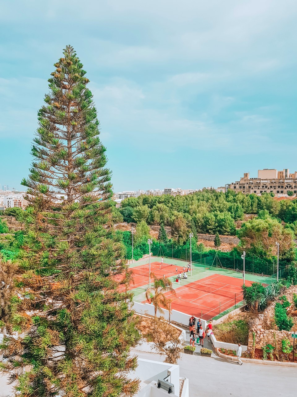 Challenge yourself to a tennis match on one of our on-site courts!